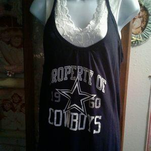 NWOT CUTE Dallas Cowboys Long Tank/Dress